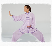 Free Shipping Chinese Martial Arts Clothes Tai Chi Uniform Morning Exercise Sporting Wear Long Sleeves Kung Fu Suit