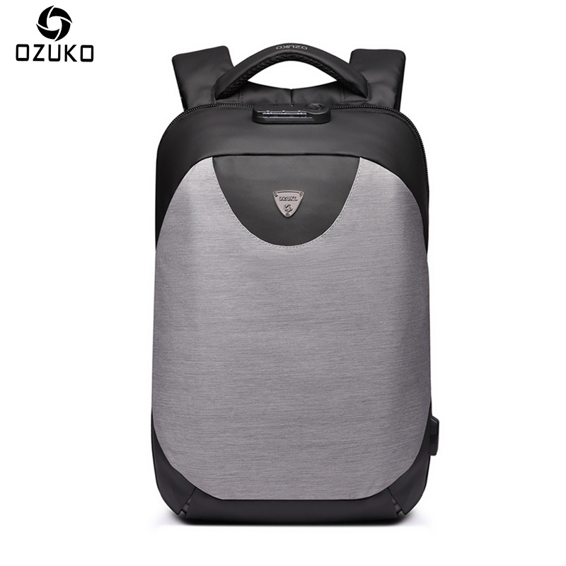 OZUKO New 15.6 Inch Laptop Bag USB Charging Anti-thief Backpack Men's Casual School Bag Waterproof Large Capacity Travel Mochila цены