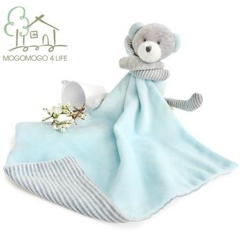 Luxury Bear Baby Bib Newborn Appease Security Blanket Soft Unisex Infant Saliva Towel Eco materials Multifunction Comforter