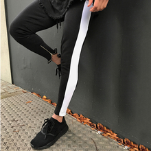 2018 Men Side Stripe Bottom Zipper Drawstring Sweatpants High Streetwear Jogger Men Patchwork Elastic Waist Track