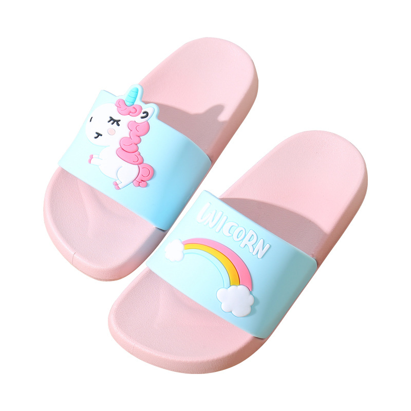 Summer Unicorn Slippers Women 2019 Casual Flip Flops Home Slippers Outdoor Flat Shoes Beach Slides Sandals Chaussures Femme