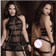 Sex Porn Babydoll Sexy Erotic Lingerie Hot Women Fishnet Transparent Lingerie Set Sexy Underwear Costumes Handcuff Sex Products