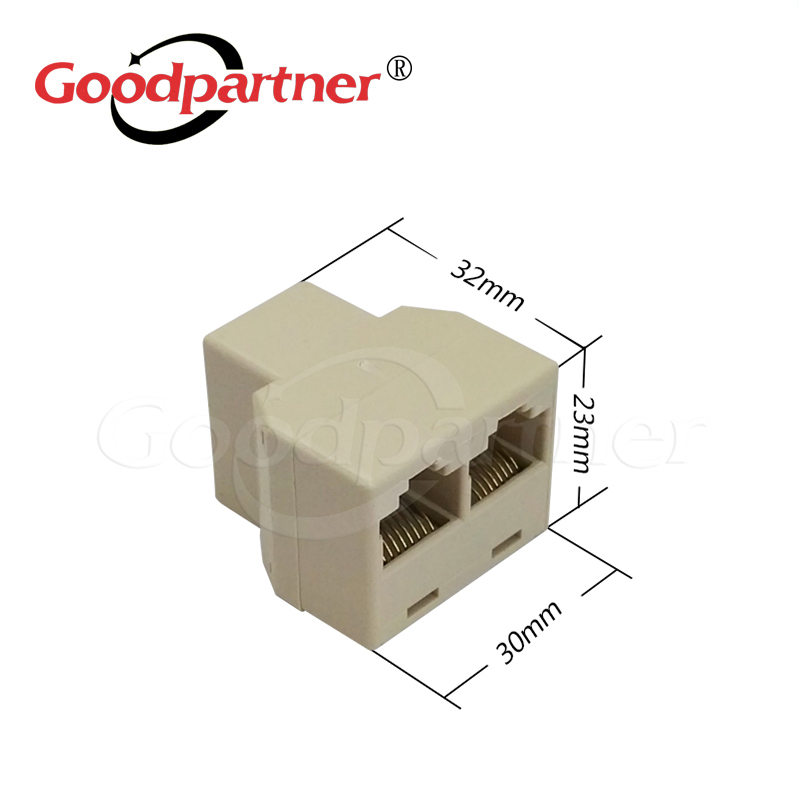 5PCS Ethernet Network Connector 1 To 2 Port Extender Extension Cable Joiner Adapter Plug