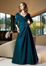 2013 Best Selling Flügelärmeln Mutter der Braut Kleid Dark Navy Taft A-Linie Abendkleider Prom Kleider neue Ankunft