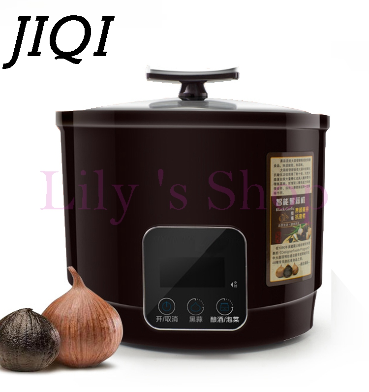 JIQI 6L Automatic Black garlic fermenter household DIY zymolysis zymosis pot maker 110V 220V black garlic fermenting machine EUJIQI 6L Automatic Black garlic fermenter household DIY zymolysis zymosis pot maker 110V 220V black garlic fermenting machine EU