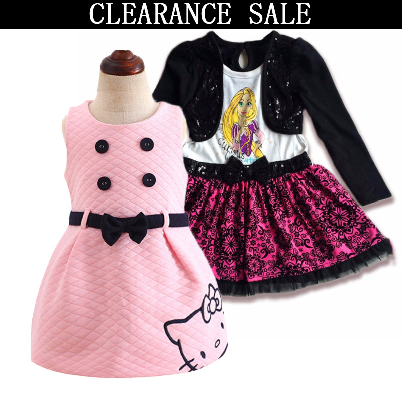 443959b8482d Clearance Sale Baby Girls Dress Fashion Spring Children Clothing Princess  Style Girls Party Dresses