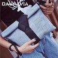 2016 de la moda de la pu bolsos de cuero pequeño arco sólido de las mujeres bolsos de tarde del embrague bolsas de mensajero hombro de las mujeres del sobre femenina ND012