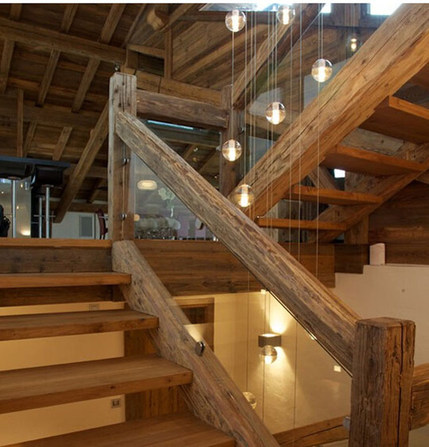 Phube Lighing LED Meteor Shower Crystal Chandelier Light Fixtures Stairwell  Chandelier Modern Foyer Chandeliers 14 Head