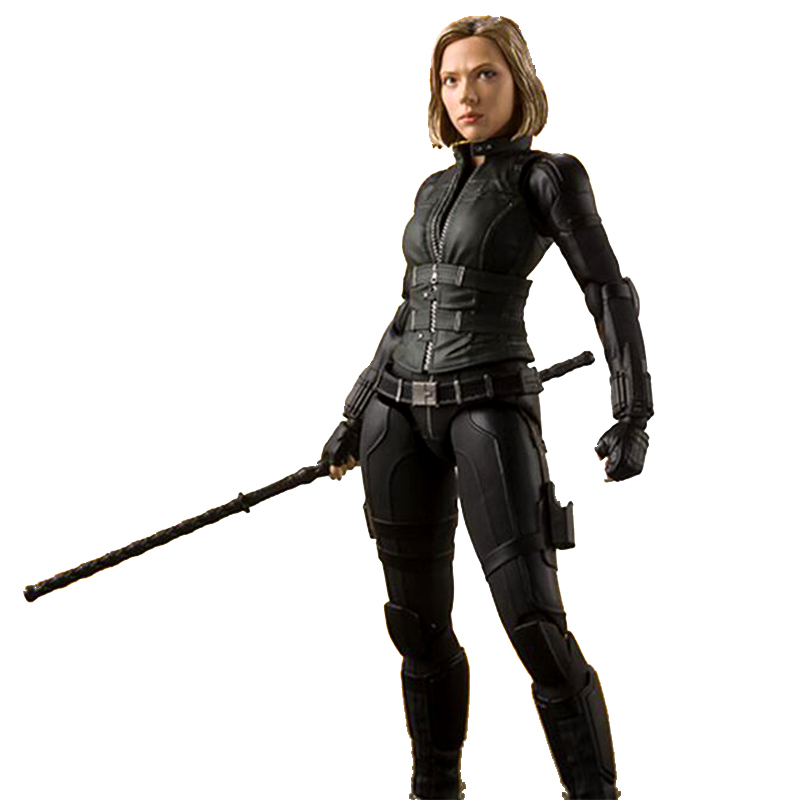 Black Widow action figure toy model Avengers End Game Natasha Romanov Doll PVC
