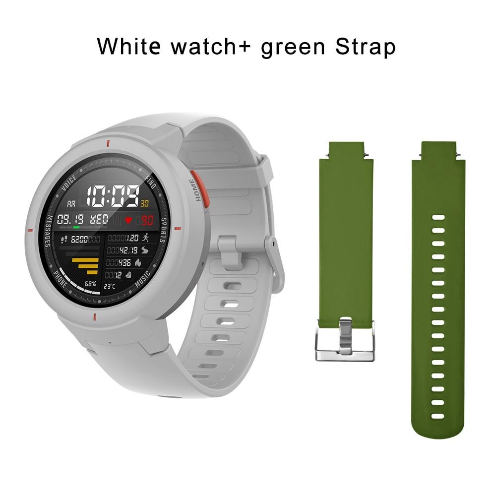 white N green strap