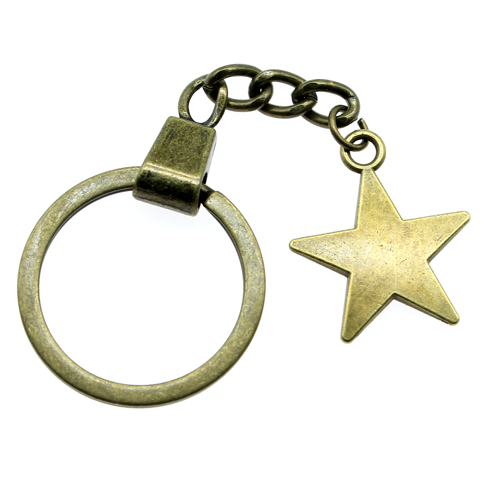 Mix Star And Moon Angel Key Chain For Diy Handmade Gifts Keychain in Key Chains from Jewelry Accessories