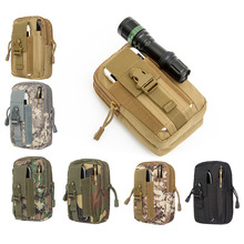 Waterproof Camouflage Tactics Running Bag Outdoor Cycling Bicycle Hiking Phone Bag Jogging Mountain Bike Accessories