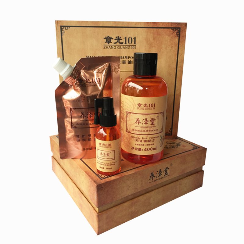 все цены на 2018 Brand New Zhangguang 101 Yang Ze Tang scalp care set Chinese medicine therapy anti hair loss powerful hair growth products онлайн