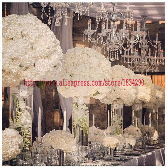 50cm wedding decoration road lead artificial 2 3 round flower ball wedding table centerpiece flower balls