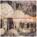 50 см свадебное украшение, искусственный свинцовый 2/3 круглый цветочный шар для свадьбы, центральный цветочный шар, арка, Цветочная стена ...