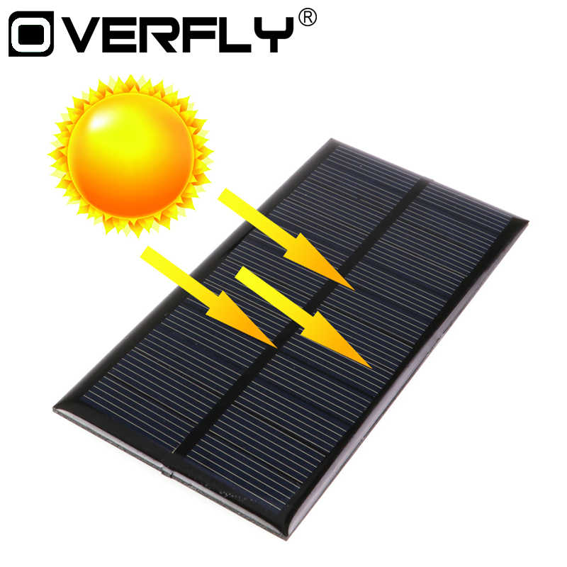 Panel Solar 12V 1.5W Mini Solar Power System DIY For Battery Cell Phone Chargers Portable Solar Panel