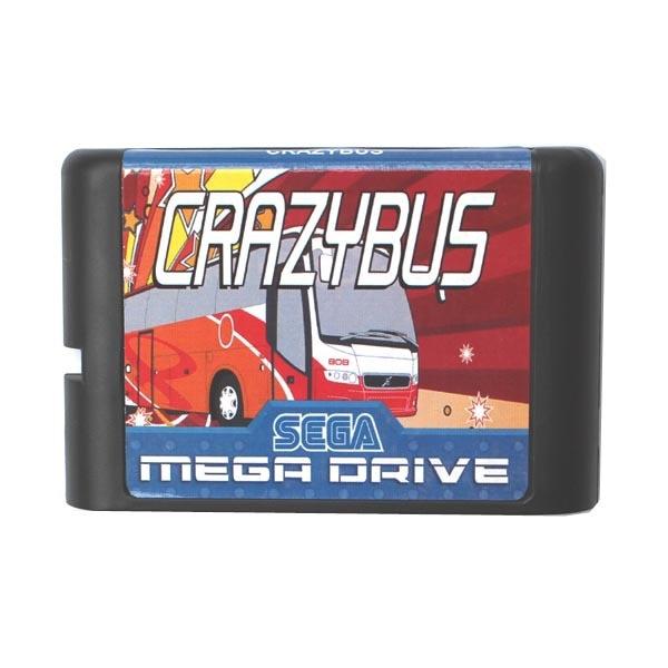 Crazy Bus 16 bit MD Game Card For Sega Mega Drive For Genesis