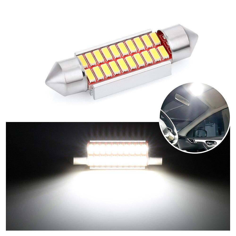 2Pcs Carte Toit Lecture Blanc Glace Bleu Rose DC12V 31mm 36mm 39mm 41mm Voiture d/ôme lumi/ère LED Ampoule Auto int/érieur Lampe CANBUS Pas d/'Erreur