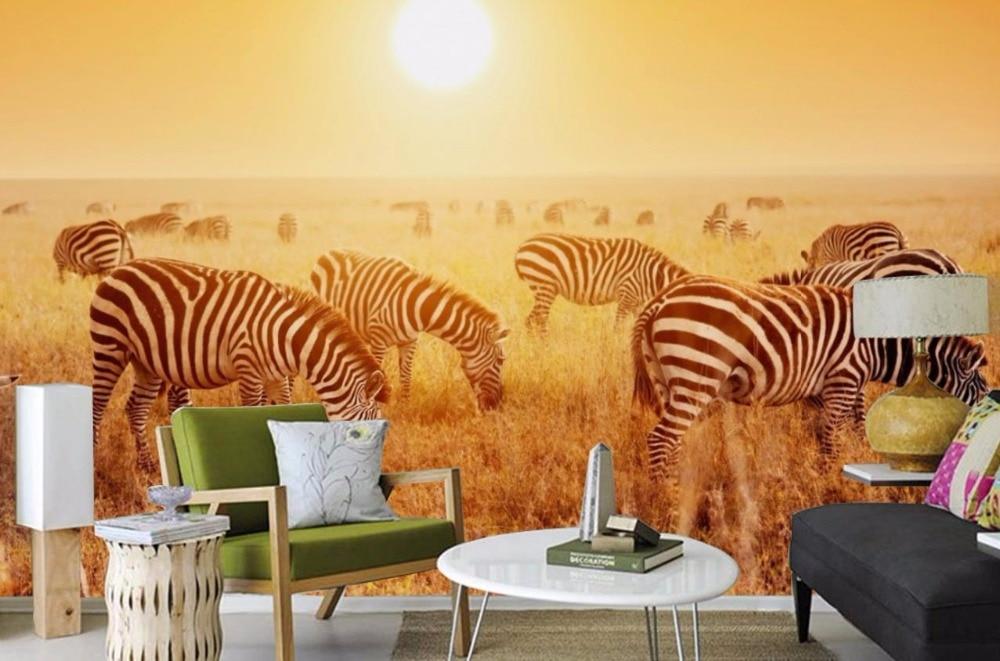 Африка 3d-stereoscopic-wallpaper Prairie животных фото обои фрески украшения chambre Задний план стены