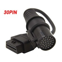 New OBD Adapter For IVECO 30Pin to 16Pin Female Truck OBD2 Cable OBDii Connector For IVECO 30 pin to OBD2 16 pin