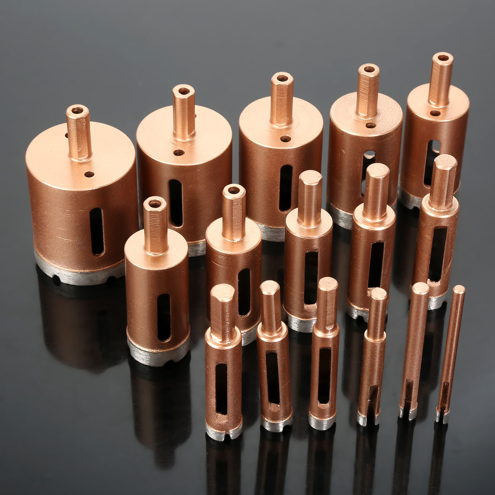 DRELD 1Pc 6-22mm Diamond Core Drill Bit Metal Hole Saw Holes Drilling Carpentry Cutter Tools For Tiles Marble Glass Granite