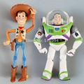 Envío Gratis Toy Story 3 Woody + Buzz Lightyear PVC Juguetes Figuras de Acción En Caja de Juguete Del Niño Regalo de Navidad 2 unids/lote DSFG101