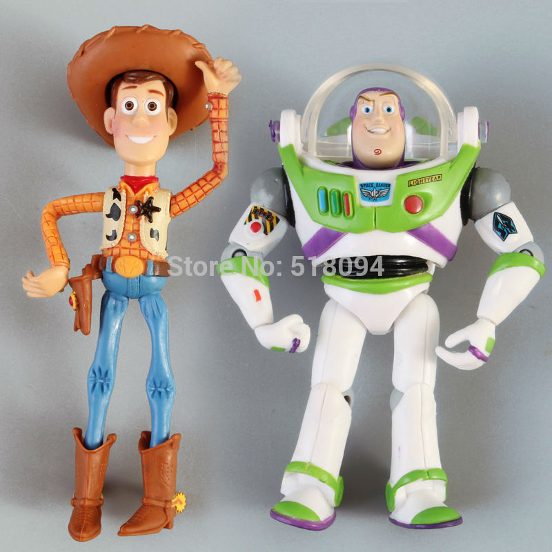 Free Shipping Toy Story 3 Woody + Buzz Lightyear PVC
