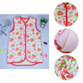 New Children Flannel Vest Strawberry Print Kids Girls Coral Fleece Vest Sleeveless Winter Warm Coats Outwear Kid Thick Vest 189