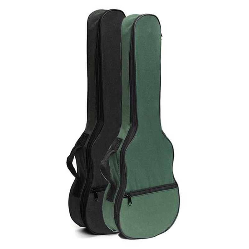 New Ukulele Soft Shoulder Black Green Carry Case Bag Musical With Straps For Acoustic Guitar Parts &Accessories 36 backpack gig bag carry case for ukulele acoustic guitar durable black blue