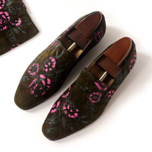 Handmade Print Embroidery Loafers Shoes Flats Slip on Summer Spring Breathable Driving Boats Shoes 2018 Flats Casual Mens Shoe