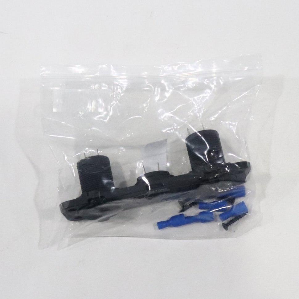 10 pièces 12 V double voiture allume-cigare prise USB adaptateur chargeur voltmètre numérique
