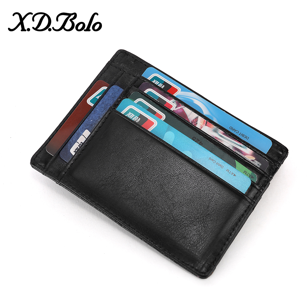 Mini Wallet Coin-Pocket RFID Slim Male Genuine-Leather with Card-Holder Men Money XDBOLO