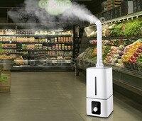 Промышленный воздух ультразвуковой увлажнитель воздуха коммерческий супермаркет овощи тумана 13L Fogger спрей анион увлажнители