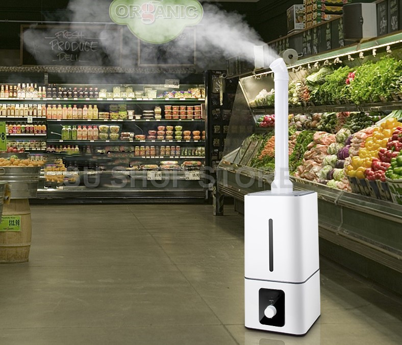 Industrial Air Ultrasonic humidifier Mute Commercial Supermarket Vegetables Mist Maker 13L Fogger Spray Anion Humidifiers