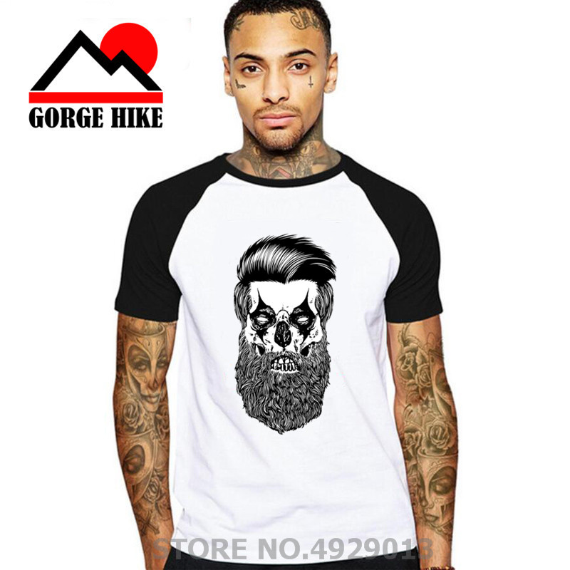 Western Retro Oil Head Beard T-shirt Fear The Beard Harden T Shirt Men Hip Hop James Tshirt Fashion Leisure Tee Camisetas Homme