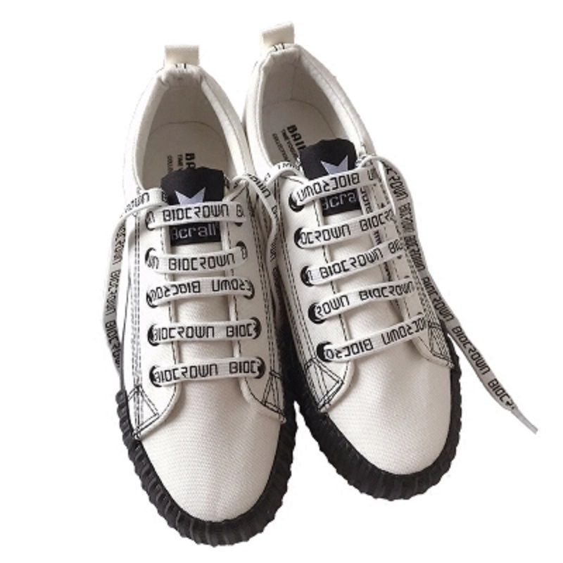Chaussures Femme Plates Toile Marée Blanc Harajuku kaki blanc Printemps Étudiant Sauvage Noir Nouveau Coréenne 2018 Hq1xaFtW