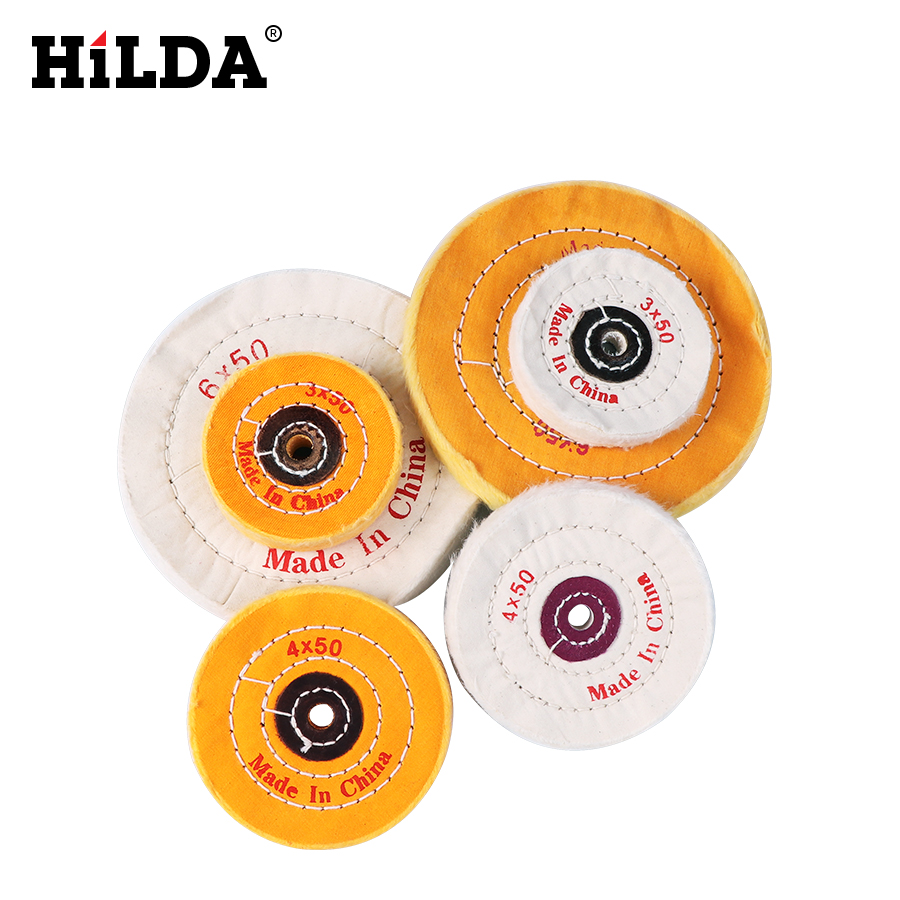 HILDA 1pcs Polishing Buffing Wheel Grinding Head Woodworking Dremel Accessories Grinder Brushes For Wood Abrasive Tools