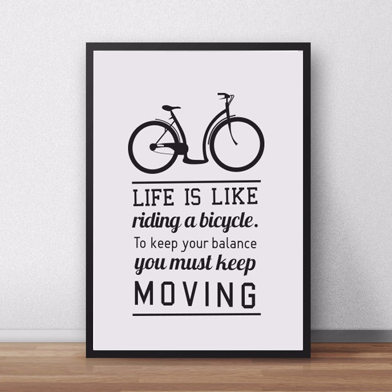 Poster Quotes About Life Beauteous New Bike Motivational Quotes Life Is Bike Canvas Painting Poster
