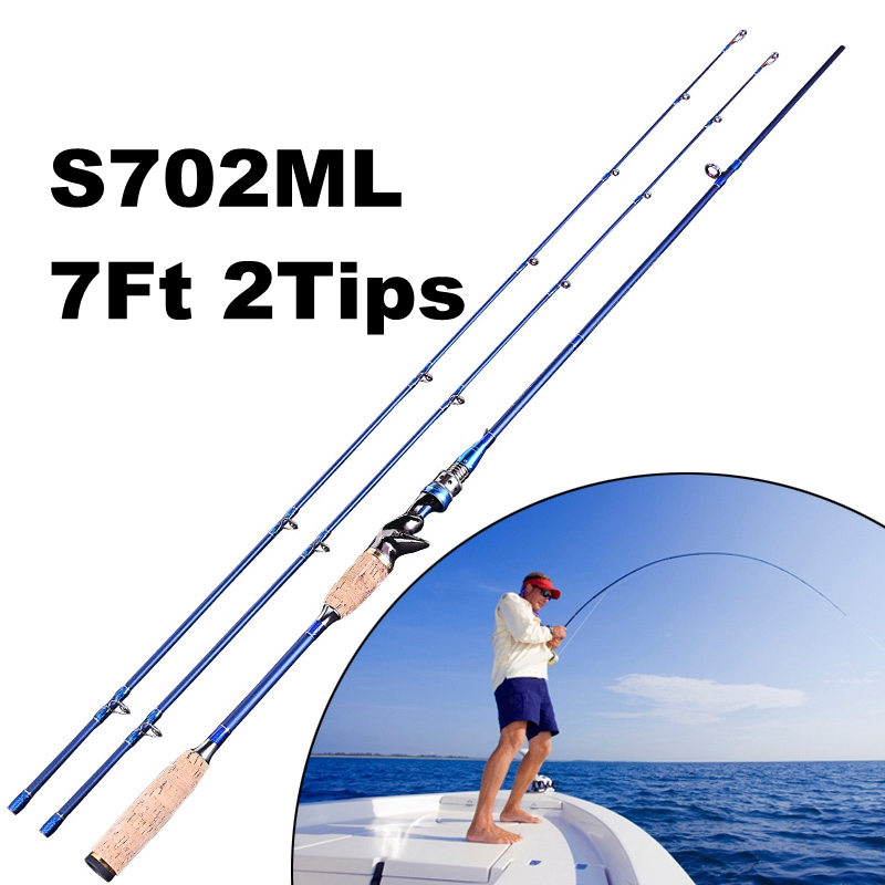 2.1M Carbon Lure Fishing Rod Ultralight Boat Sea Rod Carp Fishing Pole vara de pescar
