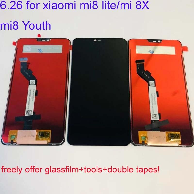 10pcs Original LCD 6 26 New For XiaoMi Mi8 lite mi8 Youth mi8x mi 8x LCD