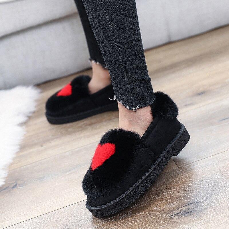 pink Caliente 2018 Zapatos red grey Mocasines Mantener Nueva De Mujer Cómodos Black Moda Negro Rebaño OO0SwCqx