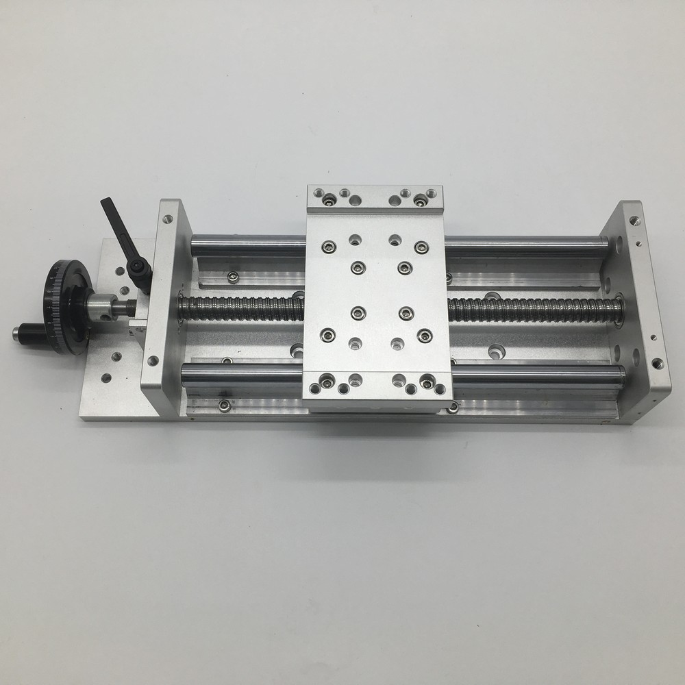 600MM Stroke Heavy Load Manual Precision Milling Sliding Table Slide Linear Stage SFU1605 C7 Ball Screw SBR Guide Platform