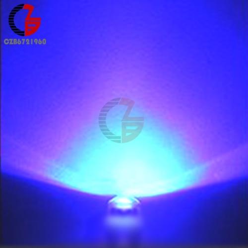 100 шт. 5 мм Диодная соломенная шляпа белый красный зеленый синий желтый фиолетовый Smd Smt Led прозрачная супер яркая широкоугольная лампа 20000mcd лампа - Испускаемый цвет: Blue