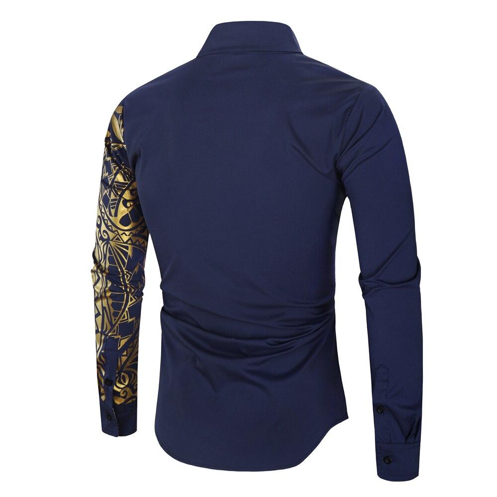 HTB1beNPXbj1gK0jSZFOq6A7GpXaq 2021 Luxury Gold Black Shirt Men New Slim Fit Long Sleeve Camisa Masculina Gold Black Chemise Homme Social Men Club Prom Shirt