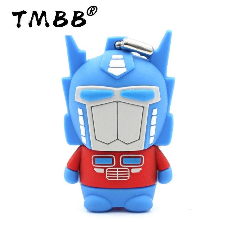 Cartoon Transformers Optimus Prime USB Flash Drives 64G Mini Pendrive 128G 32GB 8GB 16GB Memory Stick Pen Drive Flash Disk Gifts