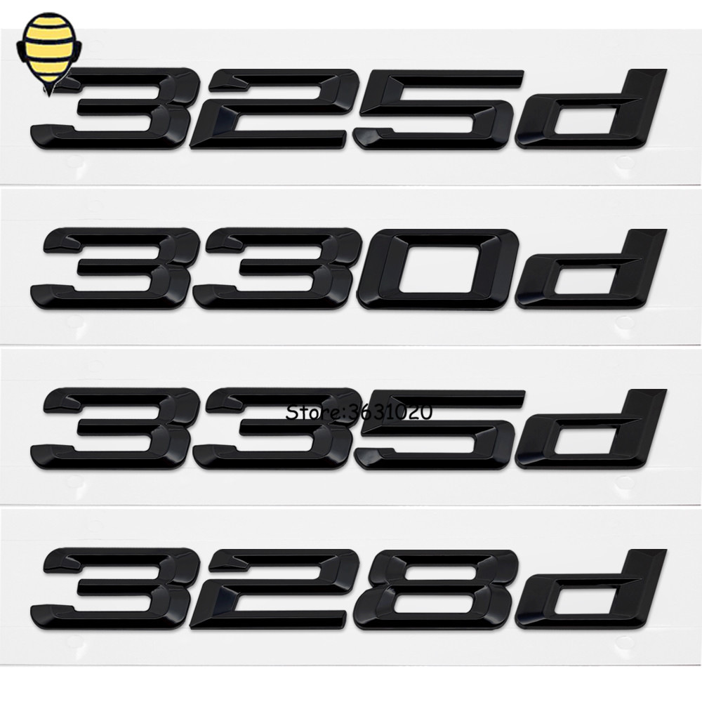 Black Car Styling Auto 3D Letter Number Trunk Lid Rear Sticker Emblem Decal Badge for BMW 3 Series 325d 328d 330d 335d E30 F10 car rear trunk security shield cargo cover for volkswagen vw tiguan 2016 2017 2018 high qualit black beige auto accessories