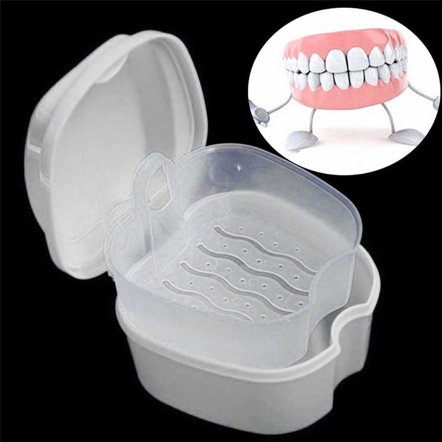 Prothese Bad Box Fall Dental Falsche Zähne Lagerung Box Mit Hängen Net Container 9*9*7 Cm Dropshipping August #1 Krankheiten Zu Verhindern Und Zu Heilen