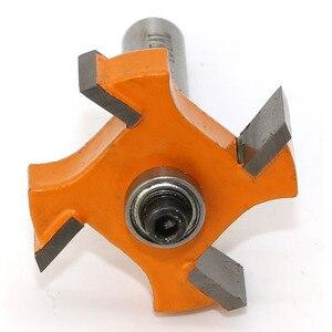 Image 2 - 1 adet 8mm Shank T tipi rulmanlar ahşap freze kesicisi Endüstriyel Sınıf Rabbim Bit ağaç İşleme aleti freze uçları ahşap