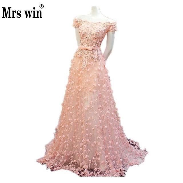 Vestidos Noche Fiesta 2018 Pink Lake Blue Prom Long Dress ALine ...