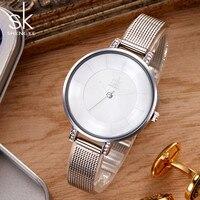 Luxury Women Watches Bracelet Style Women Dress Wrist Watch Quartz Analog Waterproof Clock Woman Shengke Brand